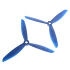 6045 3-Leaf Nylon Propeller CW / CCW for 250 Frame Kit - Blue (Pair)