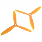 6045 3-Leaf Nylon Propeller CW / CCW for 250 Frame Kit- Yellow (Pair)