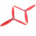 6045 3-Leaf Nylon Propeller CW / CCW for 250 Frame Kit - Red (Pair)