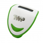 "TWP 197 0.9"" LCD Clip-on Pedometer - White + Green (1 x AG10)"