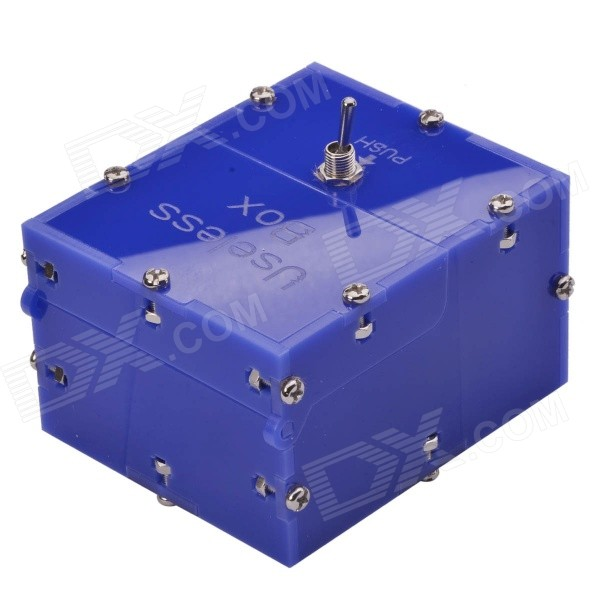 NEJE Mini Useless Fully Assembled Machine Box Toy - Blue ( (2 * AAA)