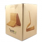 SAMDI 2637C Wooden Tablet PC Desktop Support Holder Stand for IPAD & More - Wood Color
