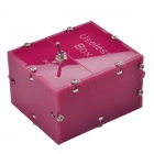 NEJE JS0006-13 Mini Useless Fully Assembled Machine Box Toy - Deep Pink (2 x AAA)