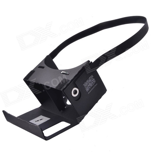 "NEJE DIY Cardboard VR 3D Glasses w/ NFC for 3.5~6"" Phone - Black"