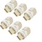 YouOkLight YK6604 E27 to G9 LED Light Lamp Bulb Adapter Converter - Silver + White (6pcs)
