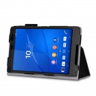 PU Full Body Case w/ Stand for Sony Xperia Z3 Tablet Compact - Black