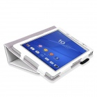 PU Full Body Case w/ Stand for Sony Xperia Z3 Tablet Compact - White