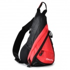 NatureHike NHSDB Outdoor Triangle Single-Shoulder Monostrap Messenger Bag Backpack - Red + Black