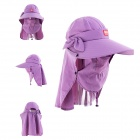 NatureHike Women's Outdoor Quick-Drying Sunproof Face / Neck Protection Wide Brim Hat - Light Purple