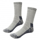 NatureHike Outdoor Sports Thickened Warm Wool + Nylon Socks for Women - Grey + Black (Free Size)