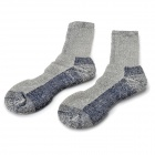 NatureHike Outdoor Sports Socks for Men - Grey + Black (Free Size)