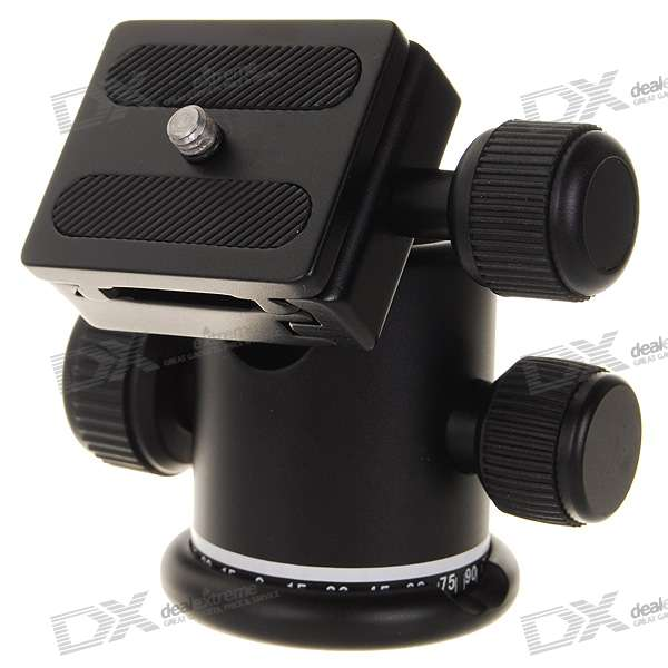 Universal 360° Swivel Bracket Head with Rail Mount for Camera Tripod