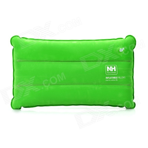NatureHike Outdoor Travel Camping Inflatable Rectangle Flocking Pillow - Green