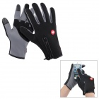 NatureHike Anti-Slip Wind-Resistant Warm Full-Finger Touch Screen Cycling Gloves - Grey + Black (S)