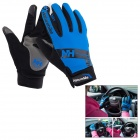 NatureHike Anti-Slip Wind-Resistant Warm Full-Finger Touch Screen Cycling Gloves - Blue + Black (XL)