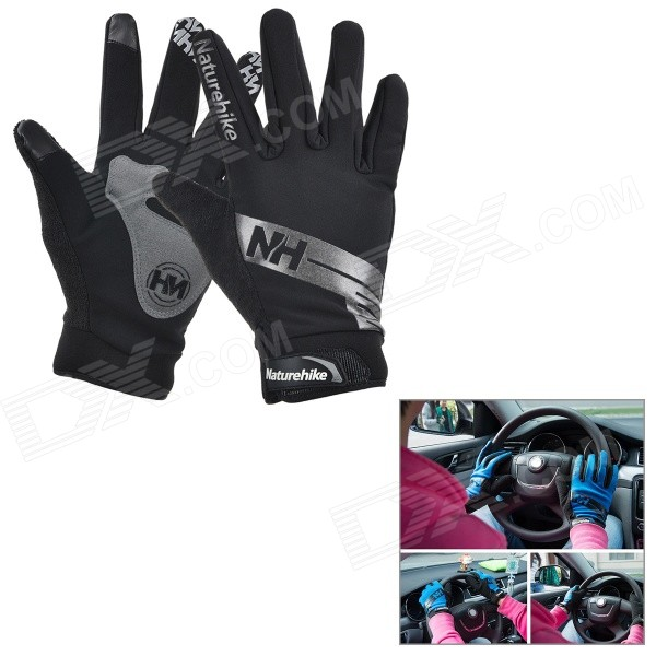 NatureHike Full-Finger Touch Screen Cycling Gloves - Grey + Black (L)Gloves<br>Form  ColorBlack + Grey + Multi-ColoredSizeLQuantity1 DX.PCM.Model.AttributeModel.UnitMaterialNylon 80% + polyester 19% + PU 1%TypeFull-Finger GlovesSuitable forAdultsGenderUnisexPalm Girth21~22 DX.PCM.Model.AttributeModel.UnitGlove Length24 DX.PCM.Model.AttributeModel.UnitBest UseCycling,Mountain Cycling,Recreational Cycling,Road Cycling,Triathlon,Bike commuting &amp; touringOther FeaturesMiddle finger length: 8.5cm; Palm width: 9cm.Packing List1 x Pair of gloves<br>