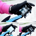 NatureHike Full-Finger Touch Screen Cycling Gloves - Grey + Black (L)