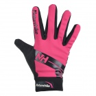 NatureHike Full-Finger Touch Screen Cycling Gloves - Deep Pink (L)