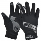 NatureHike Anti-Slip Wind-Resistant Warm Full-Finger Touch Screen Cycling Gloves - Grey + Black (M)