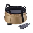 NatureHike Foldable Water Basin w/ Handle - Khaki + Navy Blue (10L)