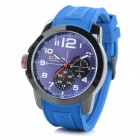 CURREN 8182A Men's Silicone Band Analog Quartz Sports Wrist Watch - Blue (1 x 626)