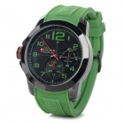 CURREN 8182A Men's Silicone Band Analog Quartz Sports Wrist Watch - Green + Black (1 x 626)