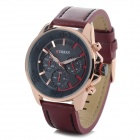CURREN 8187 Men's Stylish PU Leather Band Analog Quartz Wrist Watch - Brown +  Rose Gold (1 x 626)