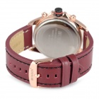 URREN 8187 Men's PU Leather Band Quartz Wrist Watch - Brown + Black