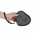 LX-03041 Heart-Shaped Pocket Purse - Black (13.5*11.5*2.5cm)