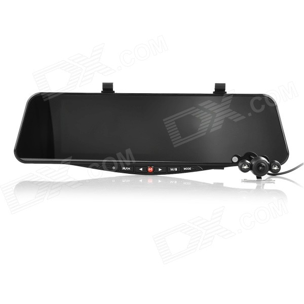 "SIV-M8 5.0"" HD 1080P Wide Angle Dual Lens 4X Zoom Rearview Mirror Car DVR Recorder w/ 3-IR LED"