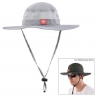 NatureHike Outdoor Fishing Quick-Dry Sun Block Hat Cap - Grey (Free Size)