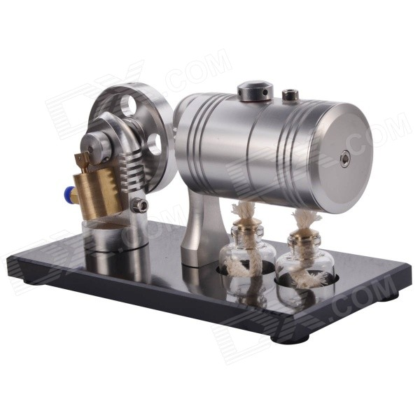 DIY Cylinder Steam Engine Model Toy - Silver + Antique Copper