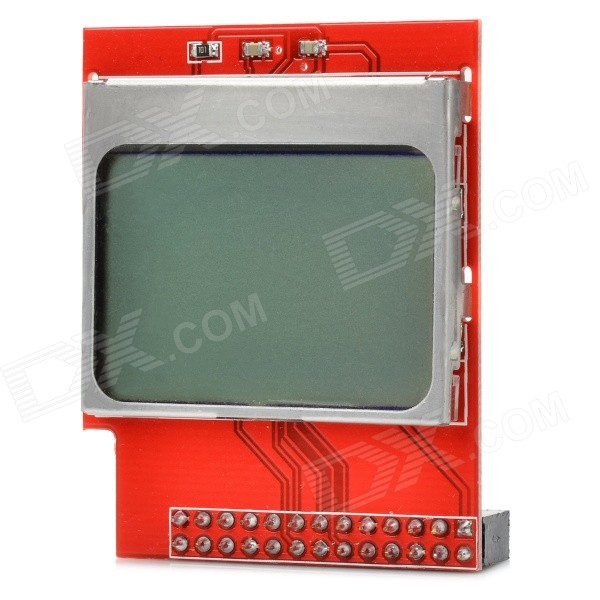 1.6'' PCD8544 LCD Display Module w/ White Backlight - Red