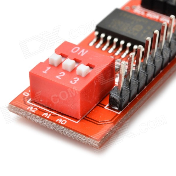 Pcf t io extension board module for arduino red