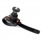 Aluminum Alloy + PU Band Bike Mount Holder for GoPro Hero 3+ / 3 / 2 / 1 - Black