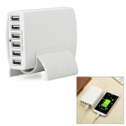 Universal 6-USB Port 5V 2A Charger - White (100~240V)