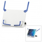 "Plastic Desktop Holder Stand for 5~10"" Tablets / IPAD - White + Blue"
