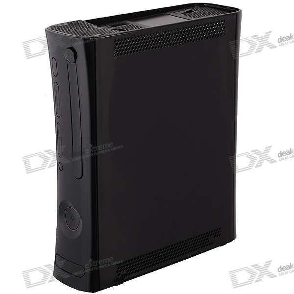 Full Replacement Plastic Housing Case with Buttons for Xbox 360 - Black