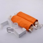 NEJE XM0001-9 Creative Wood + Cloth Desk Feet Rest Hammock - Orange