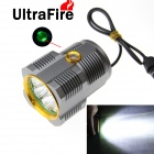 UltraFire 7500lm 8-LED White 3-Mode Bike Light w/ 8.4V Battery Pack, Power Display - Grey + Gold