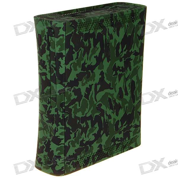 Full Replacement Plastic Housing Case with Buttons for Xbox 360 - Camouflage