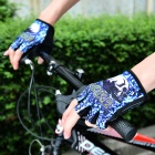 INBIKE Outdoor Cycling Breathable Half-Finger Gloves - Blue + Black (XL / Pair)