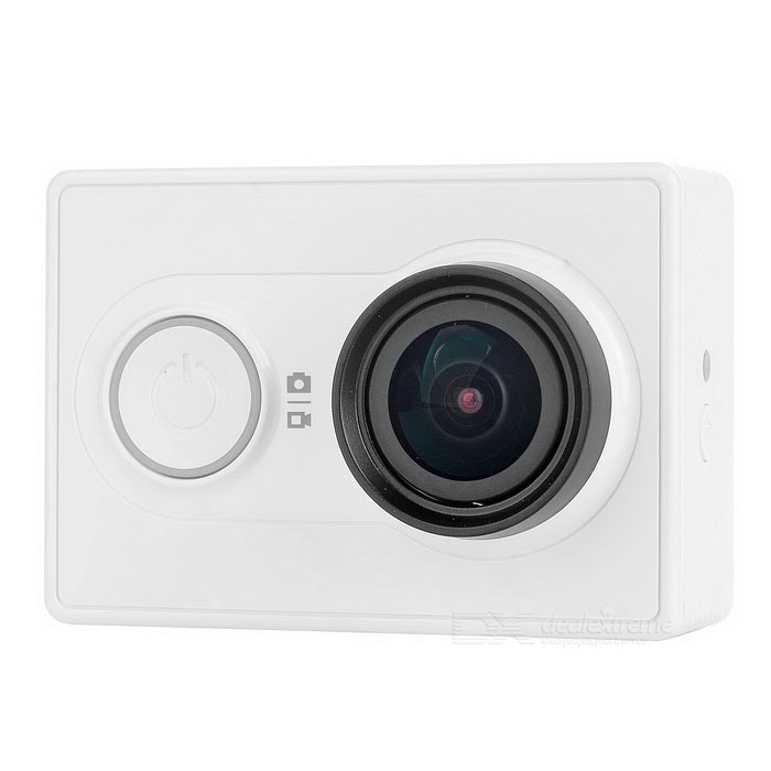 Xiaomi Xiaoyi 1080P 16MP Sports Camera w/ Wi-Fi, BT - White (32GB TF)Sport Cameras<br>Form  ColorWhite (32GB TF)ModelXiaomi (Xiaoyi)Shade Of ColorWhiteMaterialPC + ABSQuantity1 pieceImage SensorCMOSImage Sensor Size2/3 inchesAnti-ShakeYesFocal Distance2.73+/-5% mmFocusing RangeN/AApertureF2.8Wide Angle155 degreesEffective Pixels16.0MPImagesJPEGStill Image Resolution4608 x 3456VideoOthers,MP4Video Resolution4608 x 3456Video Frame RateOthers,1080P 60fps / 1080P 48fps / 1080P 30fps / 1080P 24fps / 960P 60fps / 960P 48fps / 720P 120fps / 720P 60fps / 720P 48fps / 480P 240fpsCycle RecordYesISONoExposure CompensationNoSupports Card TypeOthers,Micro SDSupports Max. Capacity64 GBBuilt-in Memory / RAMNoOutput InterfaceMicro USBLCD ScreenNoBattery Measured Capacity 990 mAhNominal Capacity1020 mAhBattery TypeLi-ion batteryBattery included or notYesVoltage5 VBattery Charging Time3~4 hoursLow Battery AlertsYesWater ResistantOthers,40mSupported LanguagesSimplified ChineseOther FeaturesWi-Fi / Bluetooth 4.0Packing List1 x Sport camera1 x Micro SD 32GB1 x 1020mAh battery 1 x Charging cable (20cm)1 x Chinese user manual<br>