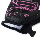 INBIKE Outdoor Cycling Mutation Pattern Breathable Half-Finger Gloves - Purple + Black (L / Pair)