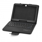 Bluetooth V3.0 64-Key Keyboard + PU Case w/ Stand for Samsung Galaxy Tab 4 T530 / T531 - Black