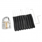 ZH-TMTZ-2 Stainless Steel Lock + Key + 9-Pick Training Tool Set