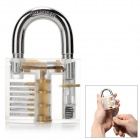 ZH-TMTZ-3 Stainless Steel Lock + Key + Comb Picks Training Tool Set - Silver