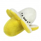 Lovely Banana Plush Doll with Lanyard - Yellow + Beige + Black
