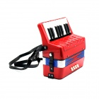Children's Portable ABS Accordion - Red