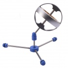NEJE Precision High-speed Revolution Metal Gyroscope Toy - Silver + Blue